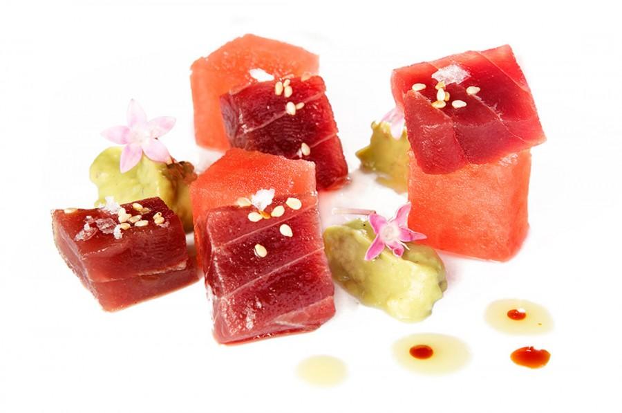 Tapa de atún y sandía - Albalá