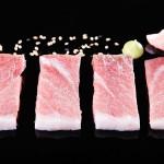 Sashimi de ventresca con mahonesa de wasabi