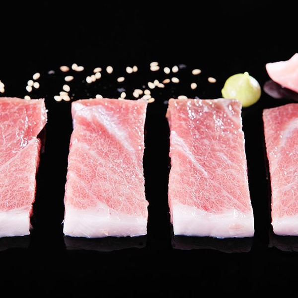 Sashimi de ventresca con mahonesa de wasabi - Casa Francisco el de siempre