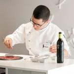 Carpaccio de paladar de atún rojo en restaurante El Campero