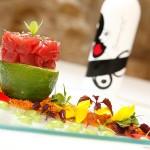 Tartar de atún rojo macerado en kimchee de Tendal