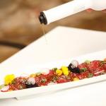 Tiraditos de atún rojo con aceite de arbequina