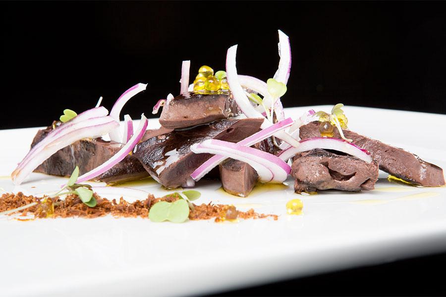 Corazón de atún aliñado - Restaurante El Campero