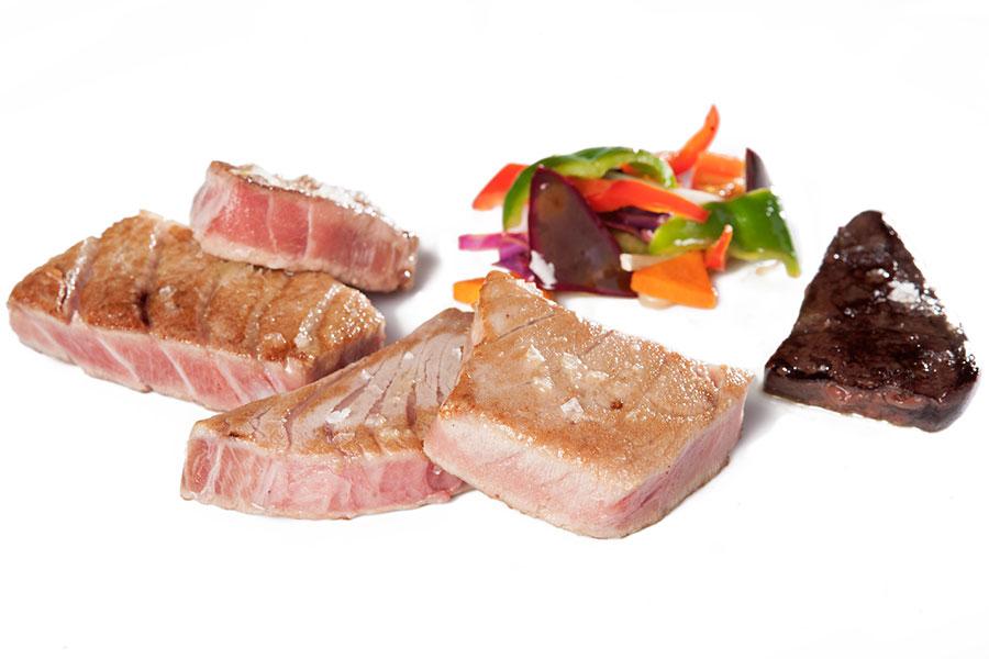 Surtido de atún rojo a la plancha - Restaurante El Campero