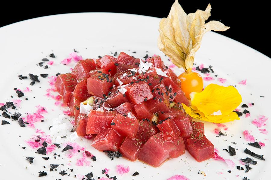 Taquitos de tarantelo con salsa picante - Restaurante Francisco La Fontanilla