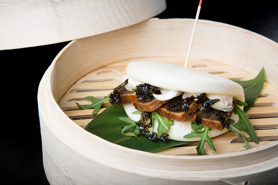 Bao de atún rojo en reducción de soja Restaurante Antonio