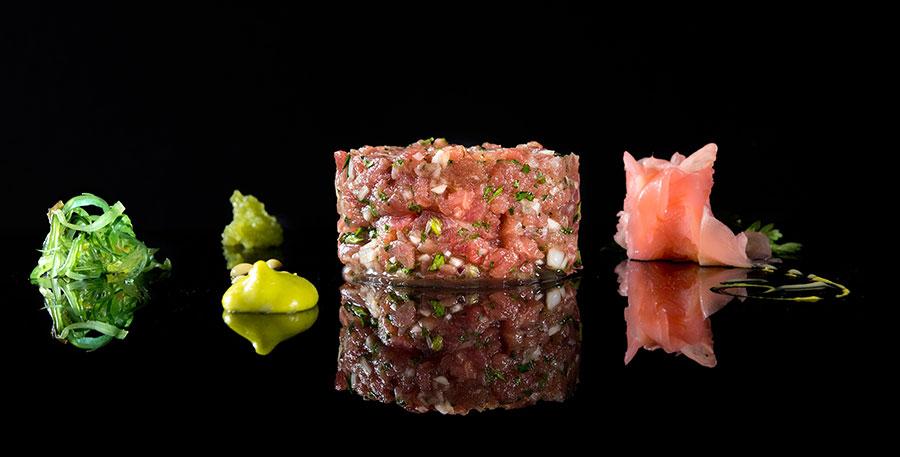Tartar de atún rojo en restaurante Albores