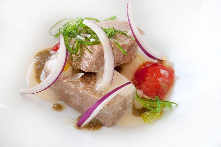Ensalada de Tarantelo de atún rojo Restaurante Albalá