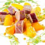 Dados de tarantelo de atún rojo en Restaurante El Faro del Puerto