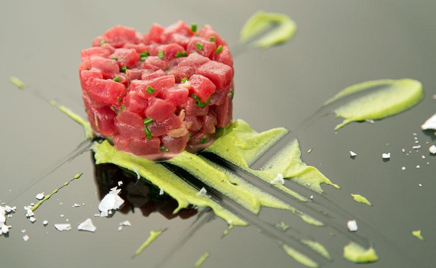 tartar de atún rojo de restaurante albala