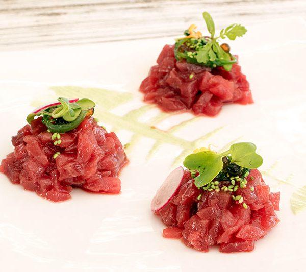 Tartar de atún rojo en Tarifa