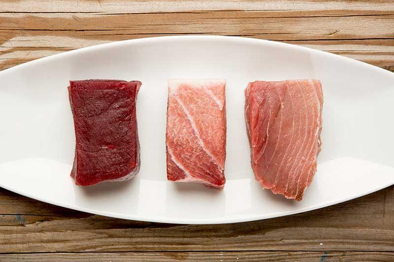 partes de atún rojo
