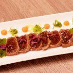 Tataki de atún rojo con shisho, La Cruz Blanca