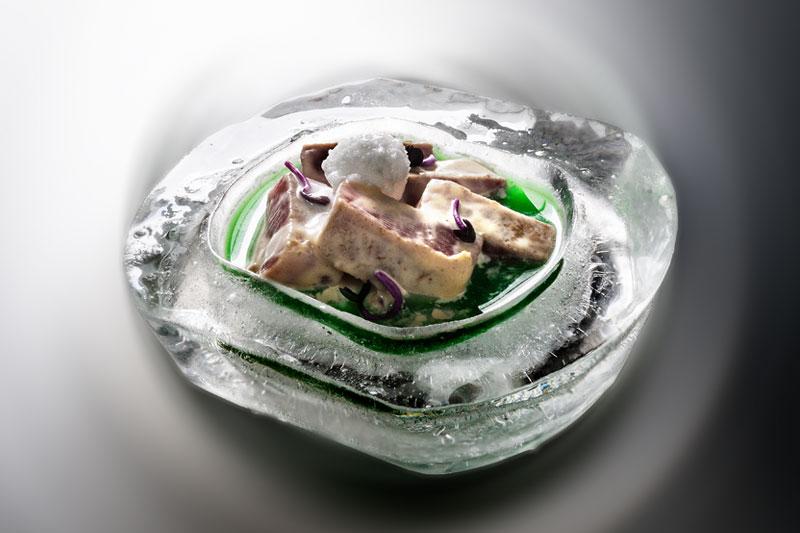 bajo cero, la tapa de atún de Restaurante Antonio