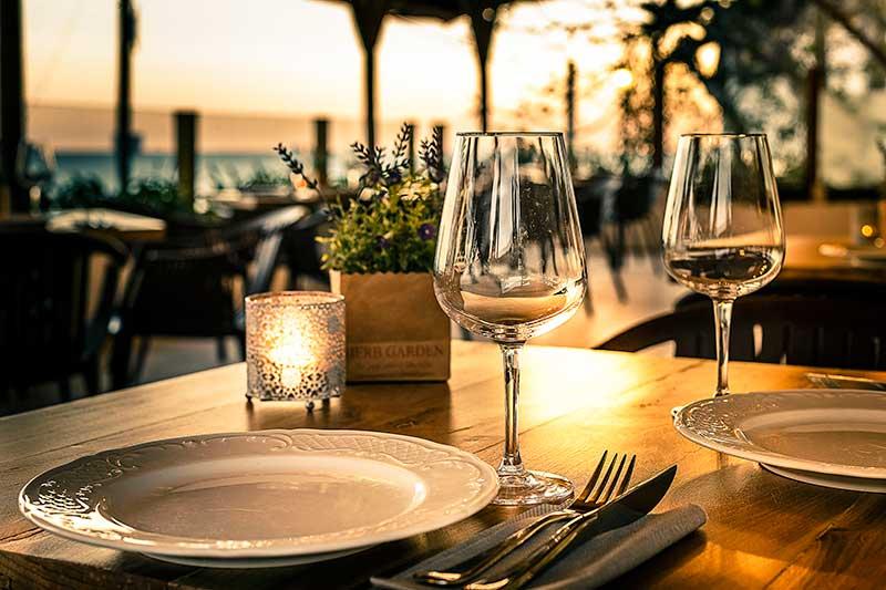 terraza del restaurante la Breña