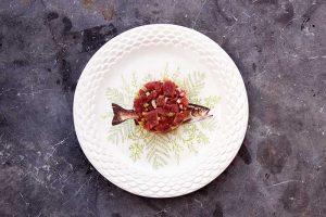 tartar de atún rojo en restaurante La Azotea de María