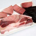 Surtidos de atún rojo, ronqueo de sabores