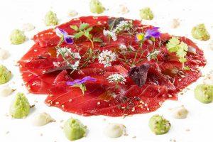 carpaccio de tarantelo de atún