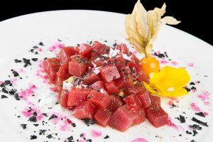 taquitos de tarantelo de atún rojo