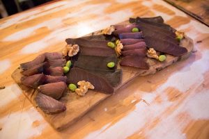 tabla de salazones de atún rojo