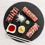 Degustación de tataki de atún rojo en restaurante La Sal