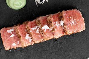 tataki de ventresca de atún rojo