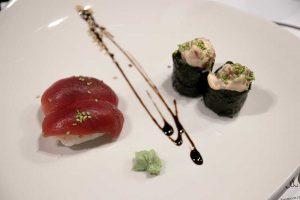 Nigiri y gunkan de atún rojo