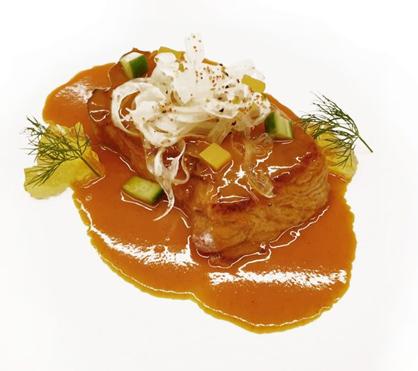 Parpatana de atún rojo con salsa XO